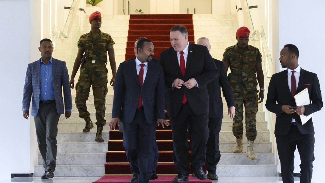 Le secrétaire d'Etat américain Mike Pompeo rencontrait, le 18février à Addis-Abeba le Premier ministre éthiopien, Abiy Ahmed. Il s'agit de la première tournée d'un membre du cabinet de Donald Trump sur le continent africain en dix-huit mois.