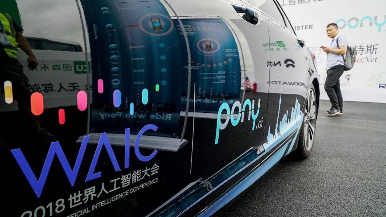 Un véhicule autonome de by Pony.ai à Shanghai