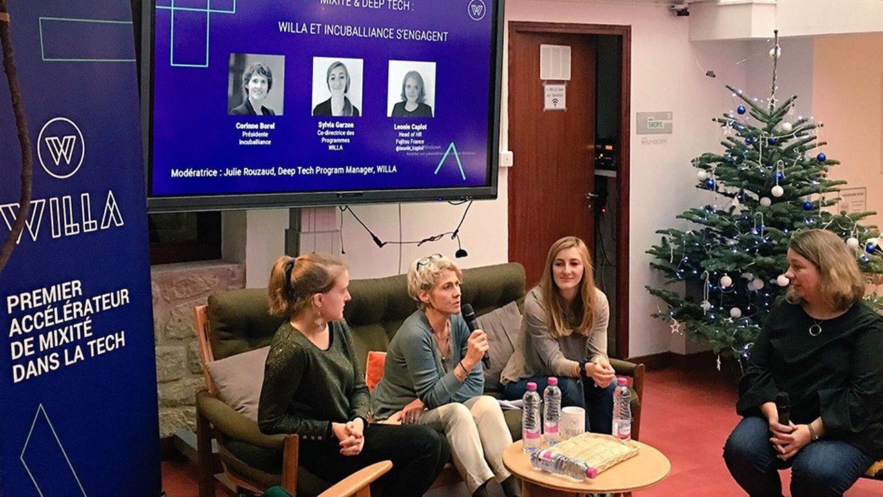 L'équipe de Willa a annoncé ce mardi qu'elle souhaitait accompagner la féminisation des start-up de «deep tech». - L'équipe de Willa a annoncé ce mardi qu'elle souhaitait accompagner la féminisation des start-up de «deep tech».