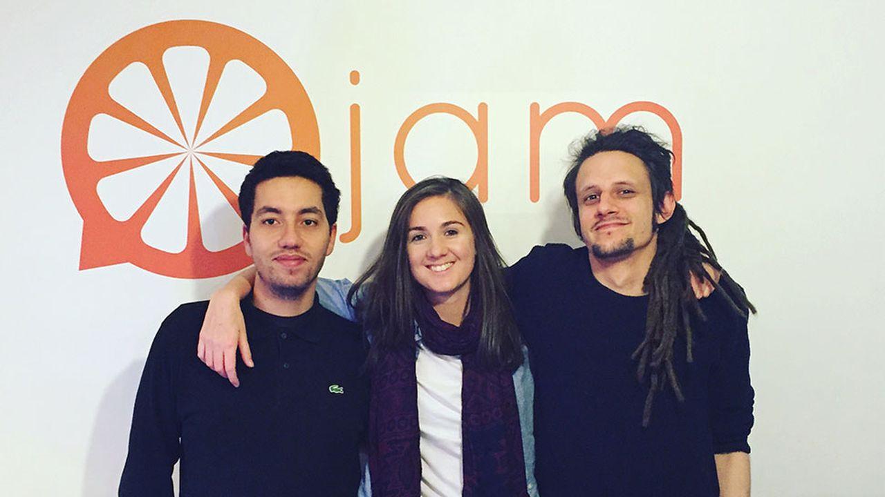 Loïc Delmaire (CTO) et Marjolaine Grondin, les deux co-fondateurs de Jam, un outil au service des étudiants.