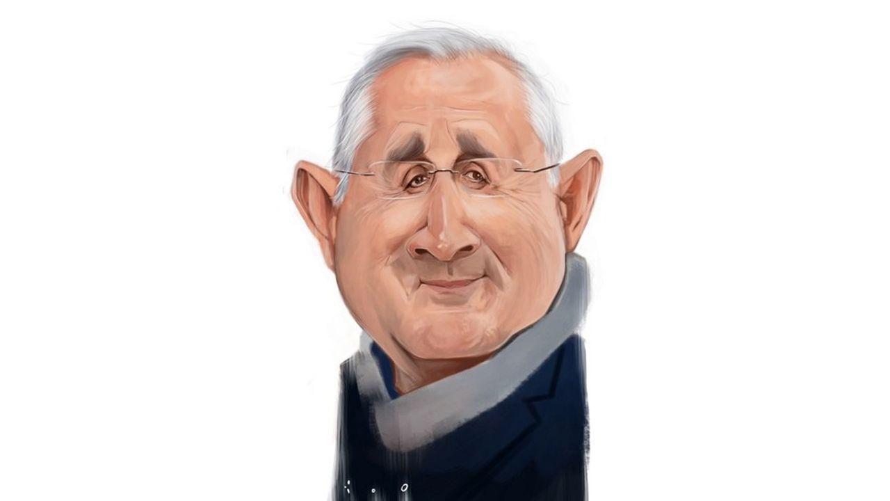 Philippe Wahl, caricature par ïoO, pour Les Echos