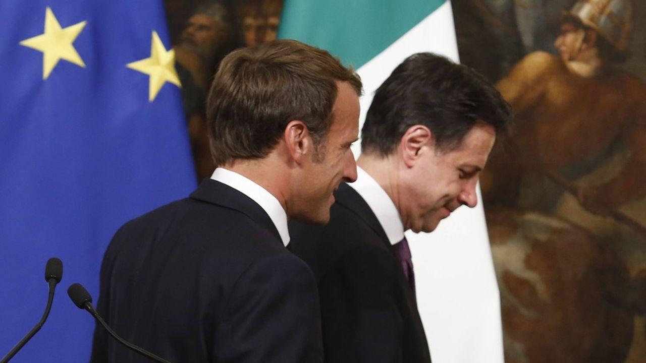Emmanuel Macron s'était rendu à Rome le 18septembre 2019, quelques jours après la formation du gouvernement Conte 2.