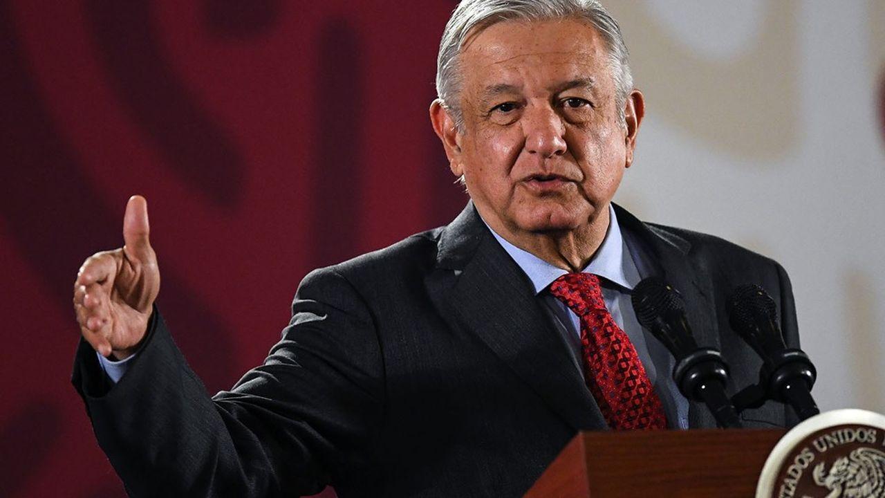Le President mexicainAndrés Manuel Lopez Obrador, lors d'une de ses conférences de presse quotidiennes qu'il donne à 7heures du matin.PEDRO PARDO/AFP