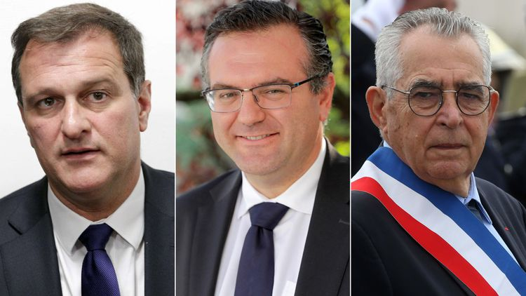 Louis Aliot, Romain Grau et Jean-Marc Pujol.