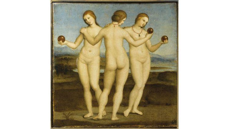 Le célèbre tableau des « Trois Grâces« de Raphaël sont au château de Chantilly.