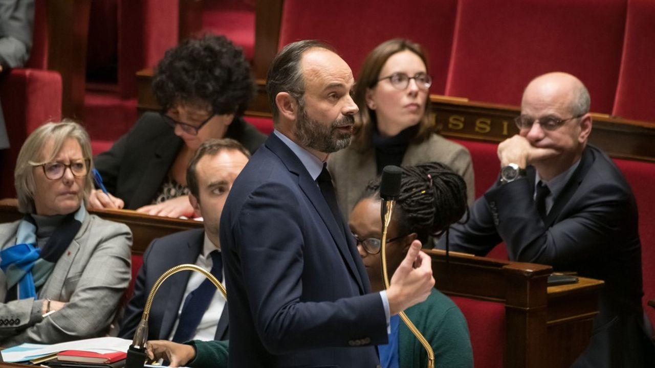 Le Premier ministre Edouard Philippe, le 4février, lors d'une séance de questions au gouvernement à l'Assemblée nationale.