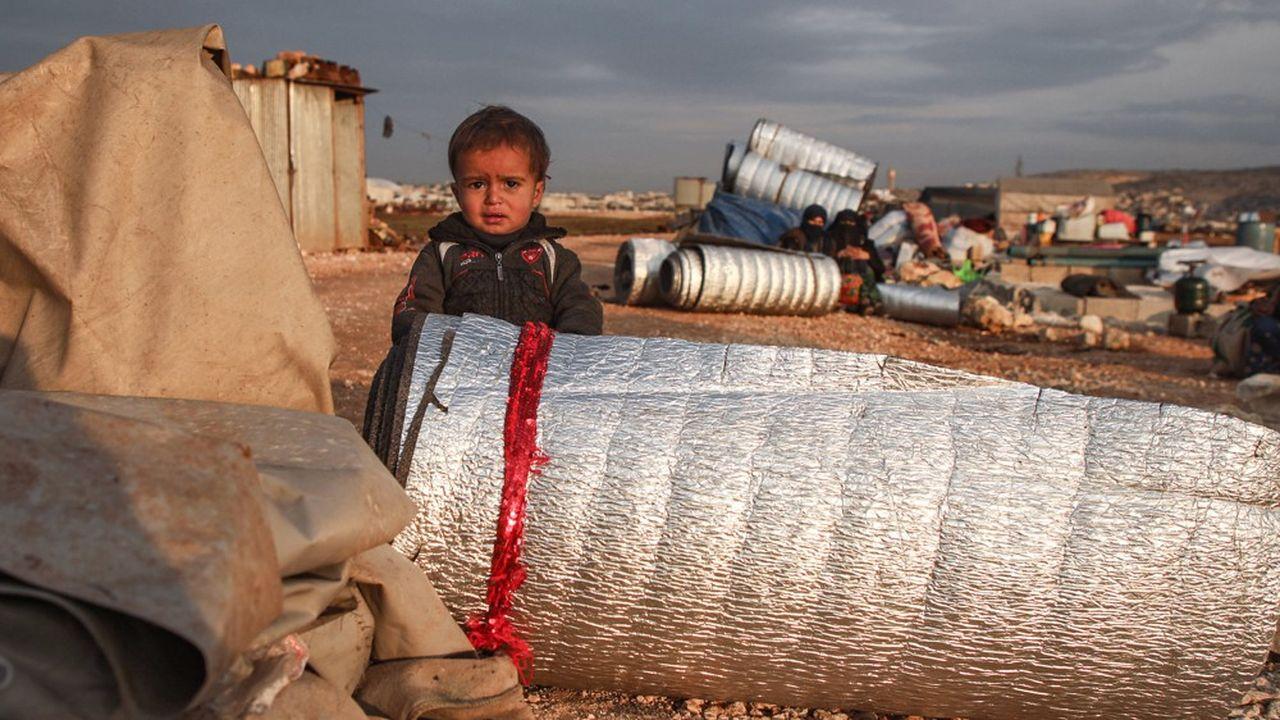 Le nombre de personnes vivant près des zones de conflit comme ici en Syrie dans la province d'Idlib a doublé en l'espace de dix ans, constate la Banque mondiale.