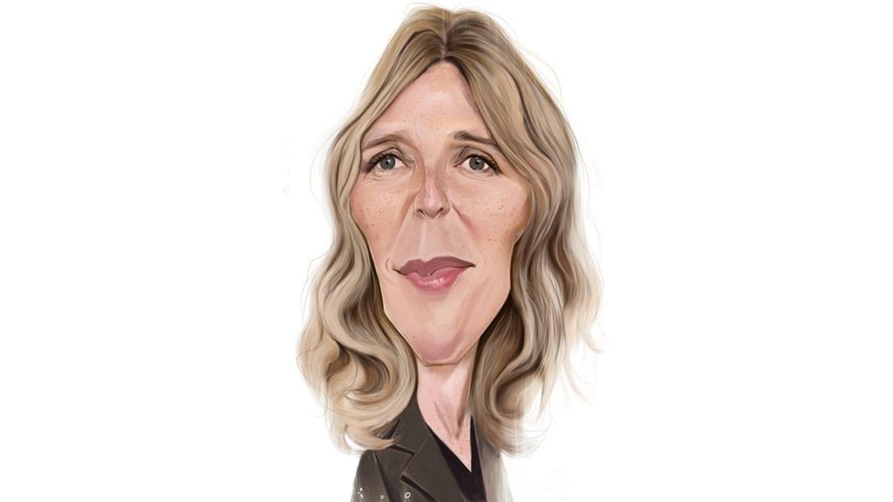 sandrine Kiberlain, caricature par ïoO, pour Les Echos
