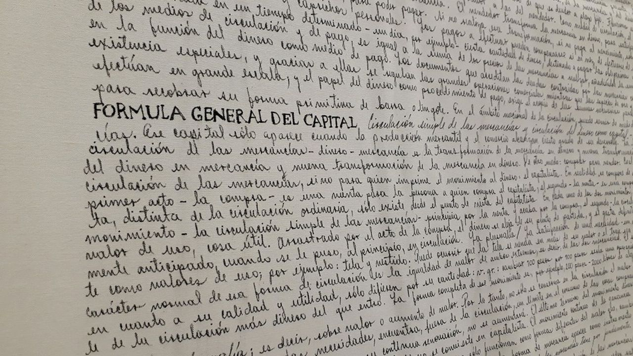 « Capital/The Sinister Written With Skill » 2007-2008. OEuvre de Milena Bonilla.