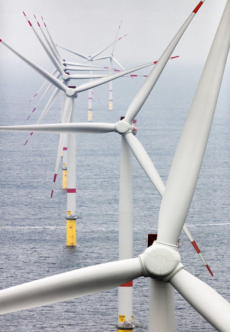 Le parc offshore Gode Wind, en mer du Nord, à 35 km au large des îles allemandes de Frise-Orientale.