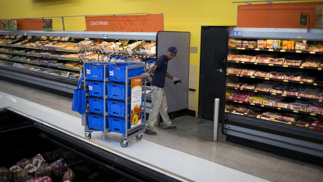 Les ventes en ligne de Walmart ont progressé de 37% aux Etats-Unis sur l'ensemble de l'année 2019.