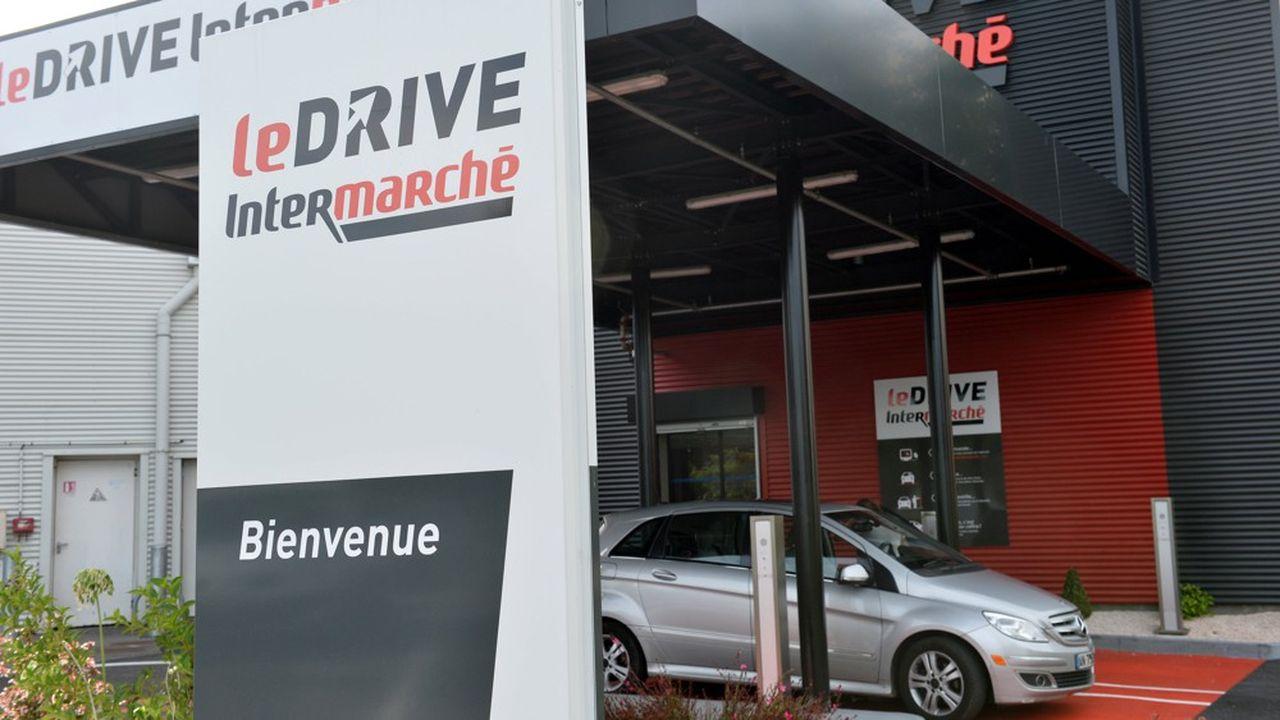 Les ventes des drives d'Intermarché ont grimpé de 30%.