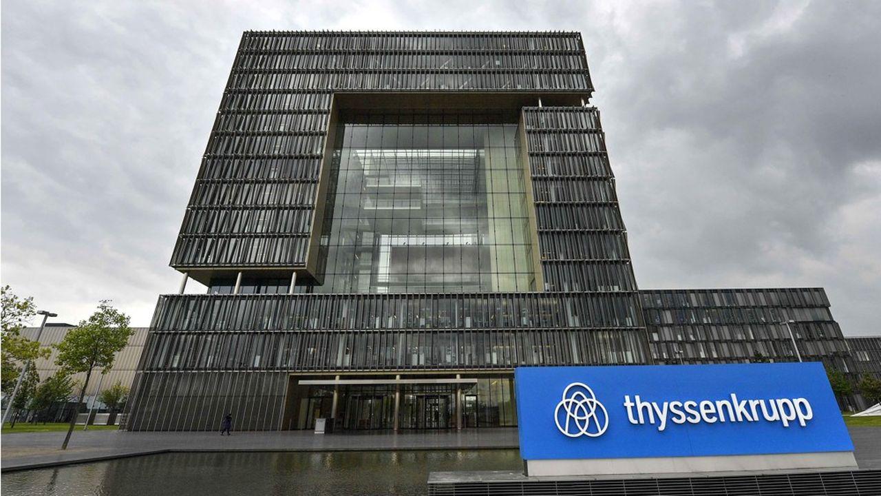 Thyssenkrupp a annoncé la plus grosse cession jamais réalisée en Europe à des fonds pour 17milliards d'euros, avec la vente de sa division ascenseurs. (AP Photo/Martin Meissner)/MME109/19130463778875/1905101504