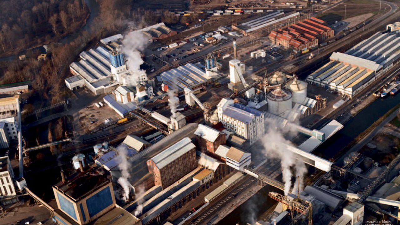 L'usine Solvay de Dombasle-sur-Meurthe fonctionne actuellement au charbon.