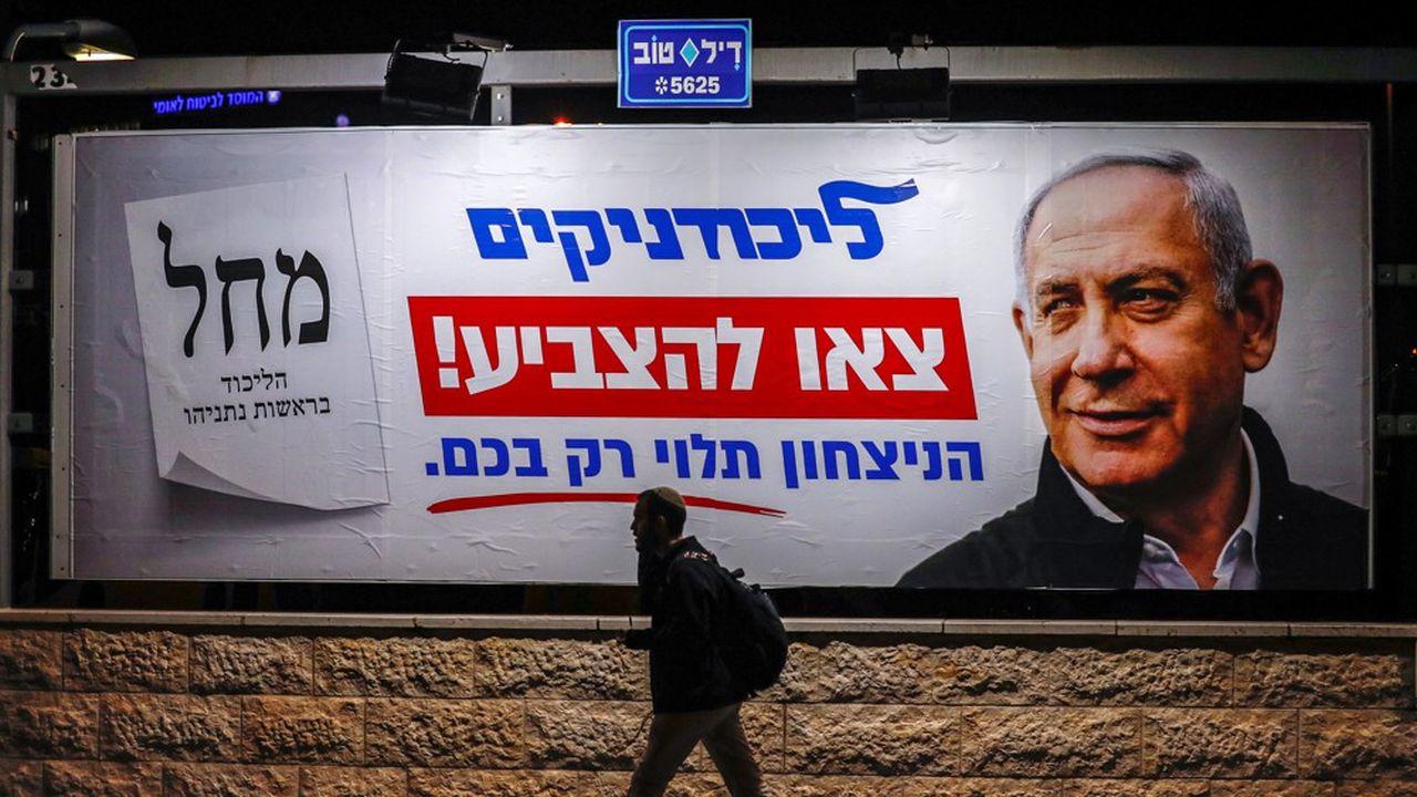 Quelque 44% des Israéliens préfèreraient un gouvernement dirigé par Benyamin Netanyahou et 42% par Benny Gantz lors des législatives du 2mars.