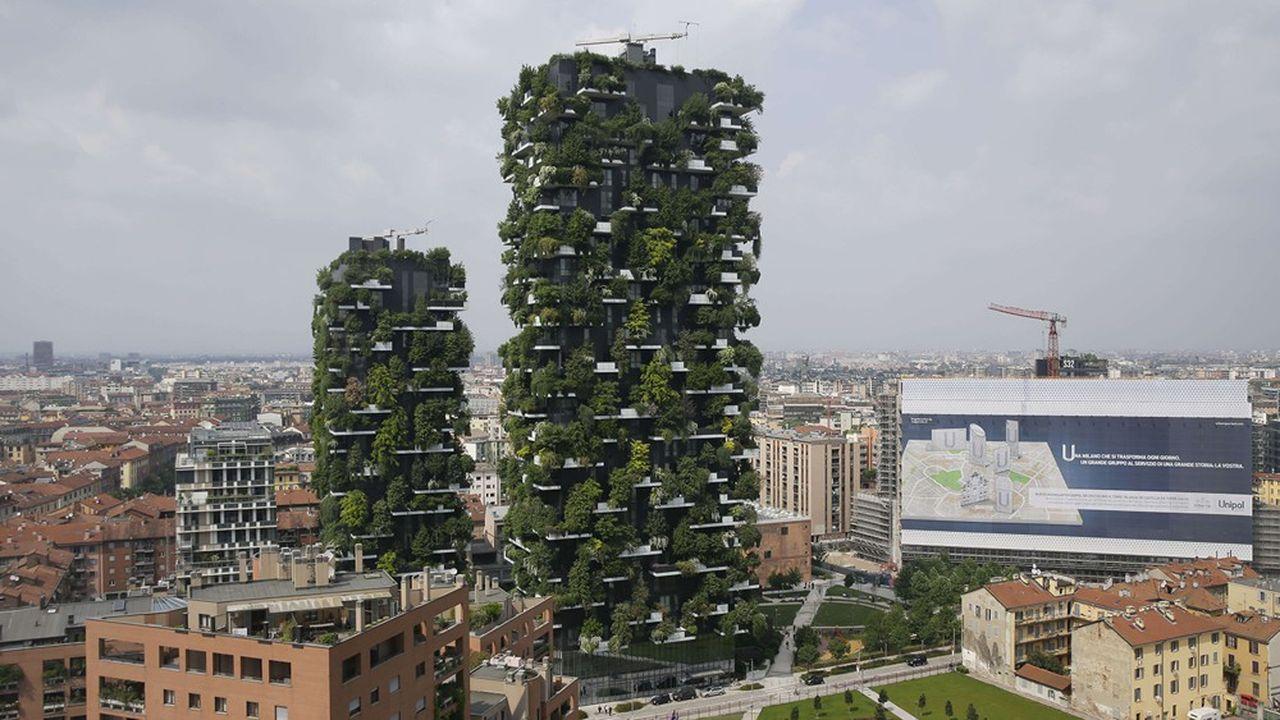 Les immeubles du Bosco Verticale à Milan, en Italie.