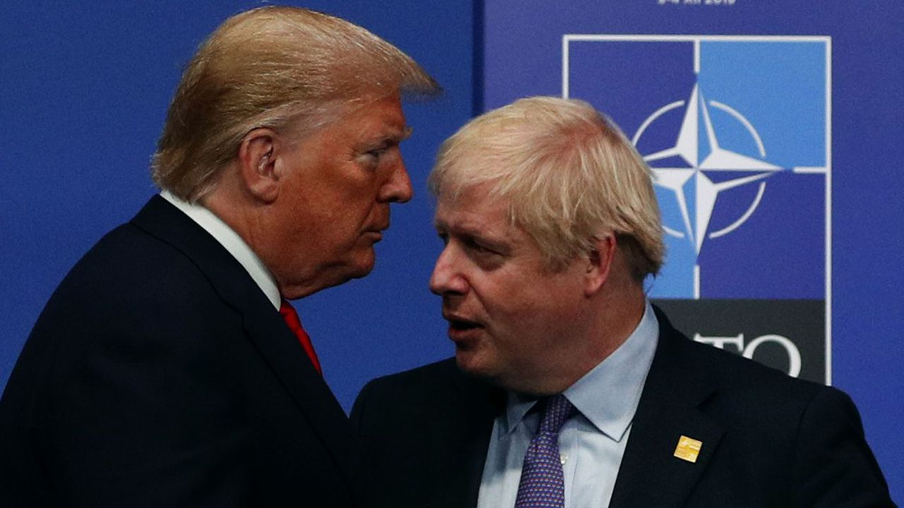 Boris Johnson et Donald Trump au Sommet de l'OTAN, le 4décembre 2019.