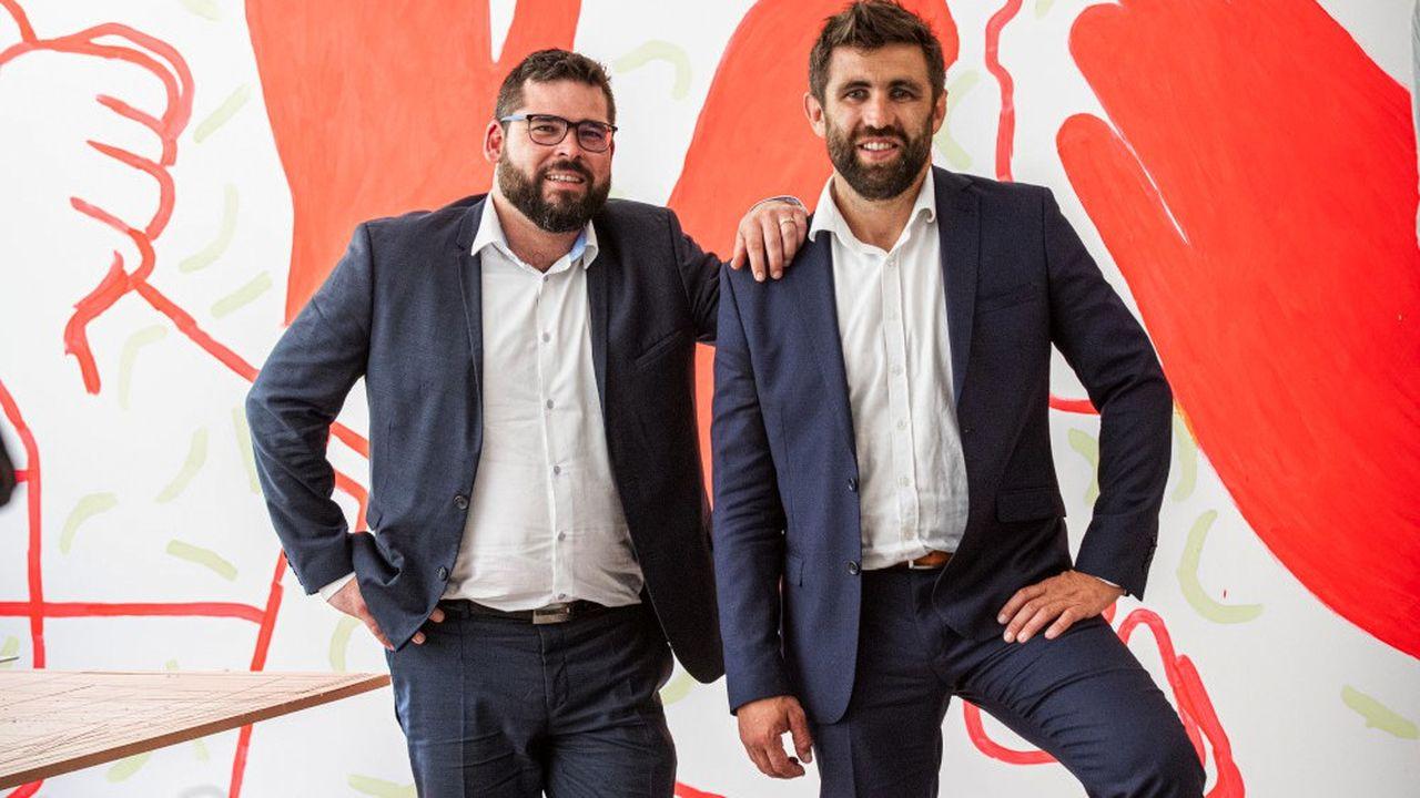 A gauche, Thomas Zunino, pré́sident, et à̀ droite, Thomas Séchaud, directeur gé́né́ral de la société T-zic.