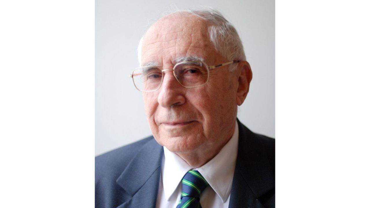 Portrait de l'economiste francais Jacques Lesourne, 2013 Photographie ©DRFP/Leemage