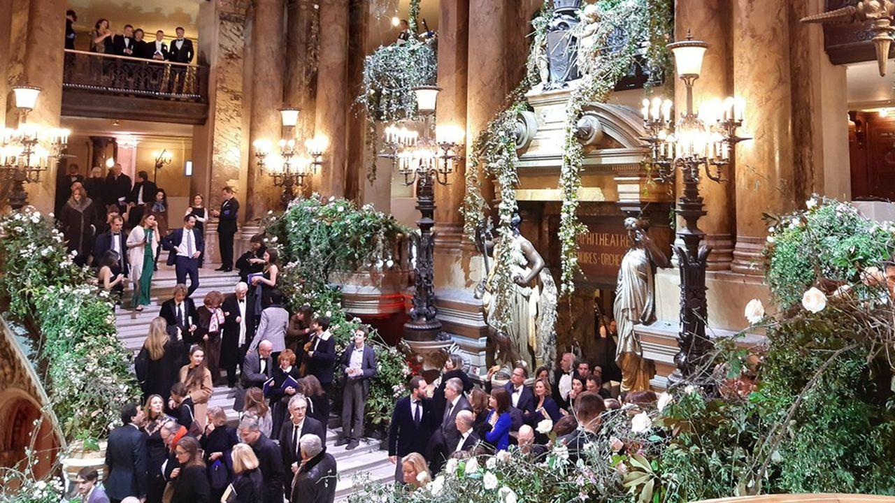 Gala des 40 ans de l'Association pour le rayonnement de l'Opéra de Paris le 27février dernier au Palais Garnier.