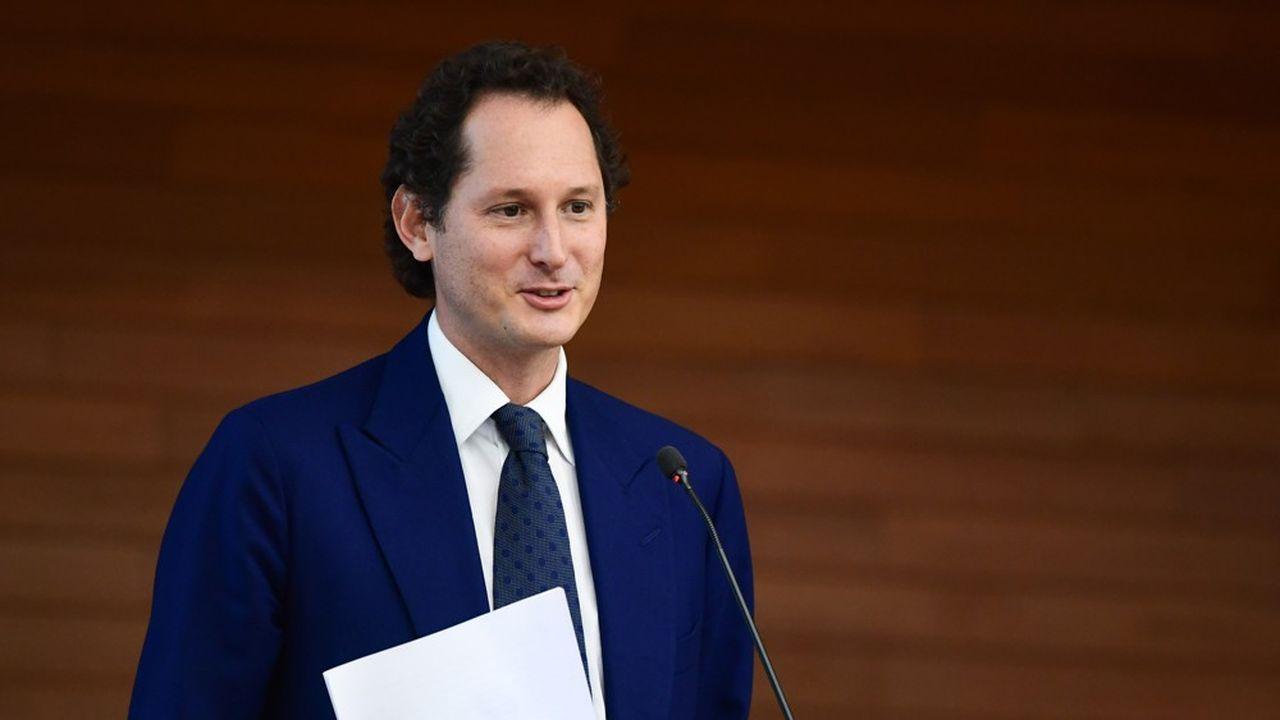 John Elkann, l'héritier de l'empire Agnelli, va se trouver avec près de 11 milliards de dollars à redéployer en 2021. (Photo by Miguel MEDINA / AFP)