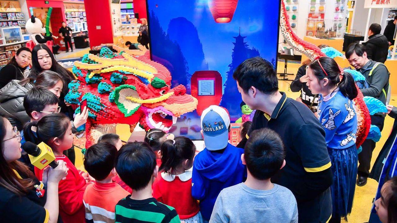 En 2019, Lego a ouvert un magasin amiral à Pékin, en Chine