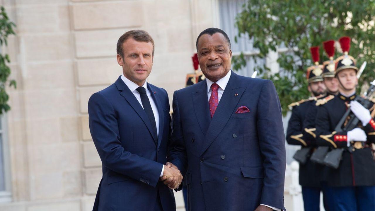 Le président Emmanuel Macron accueille, le 3septembre à l'Elysée, le président de la République du Congo, Denis Sassou Nguesso, pour discuter notamment d'environnement.