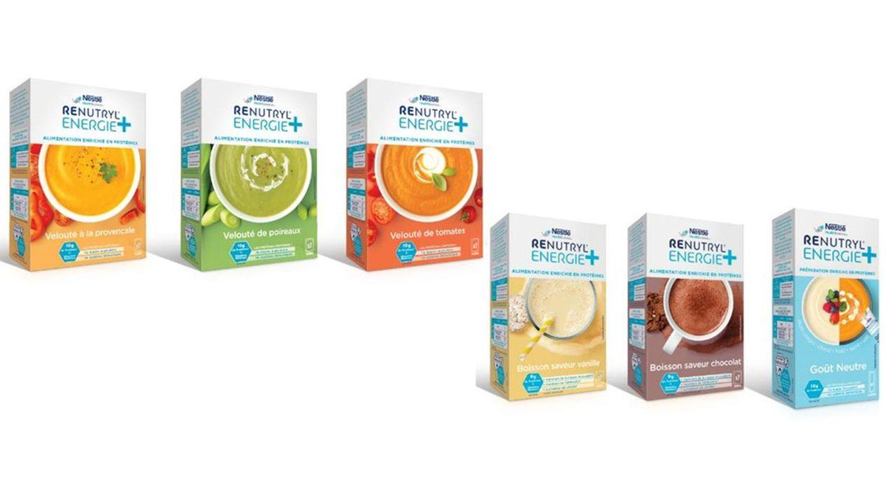 Avec Renutryl Energie, Nestlé dit «créer un marché qui n'existait pas à ce jour, de gamme alimentaire en pharmacie pour les seniors. Le potentiel est énorme. Aujourd'hui six millions en France, les personnes âgées seront deux fois plus sous peu.
