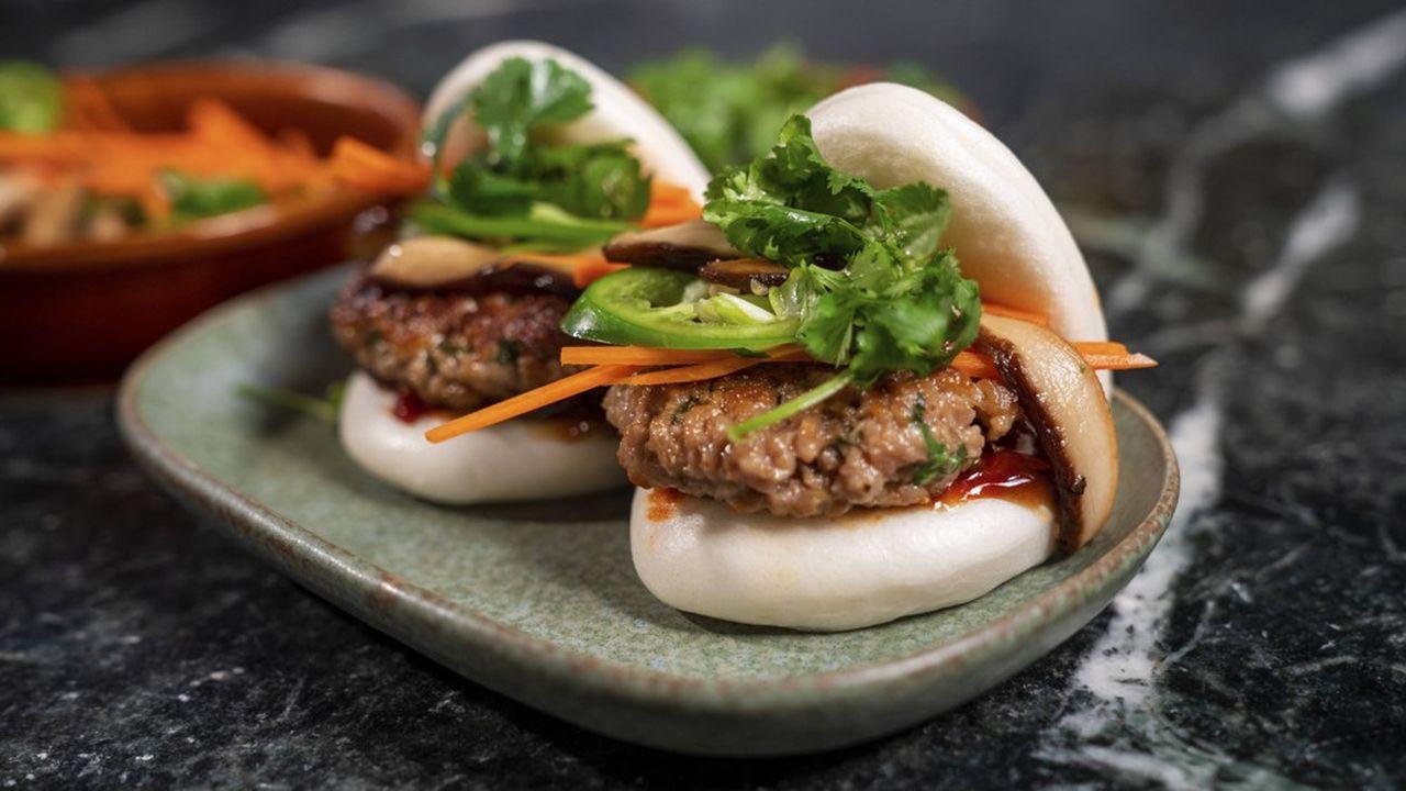 Un buger produit par Impossible Foods à base de« viande » végétale.