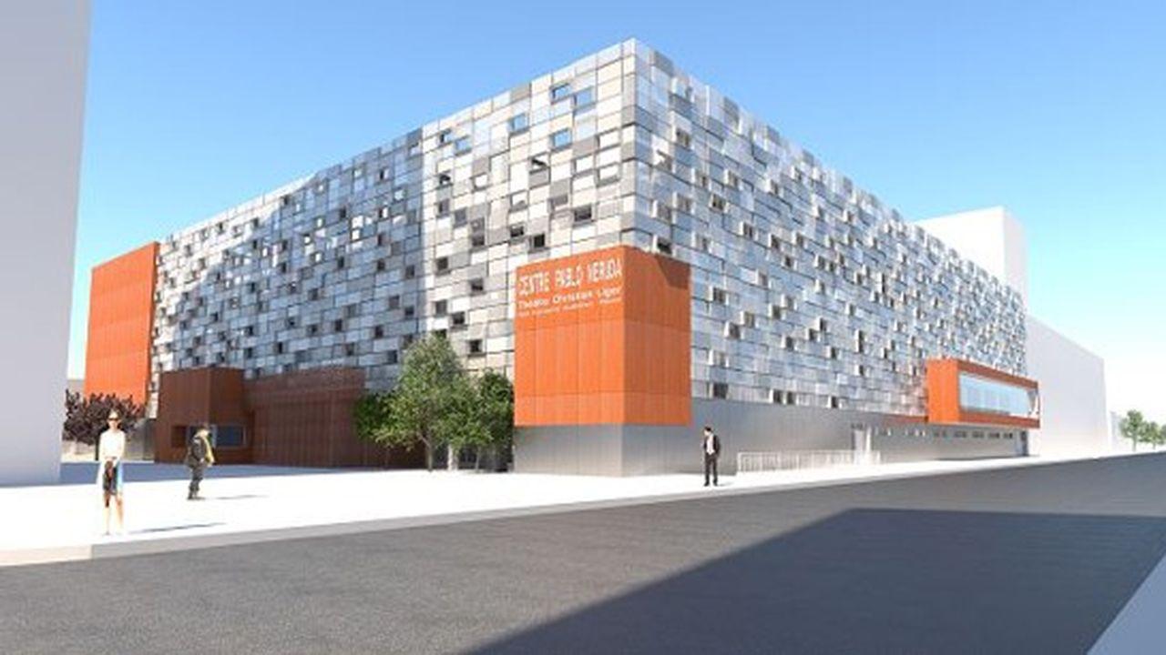 Le bâtiment abrite une piscine, un théâtre, des salles de sport et associatives.