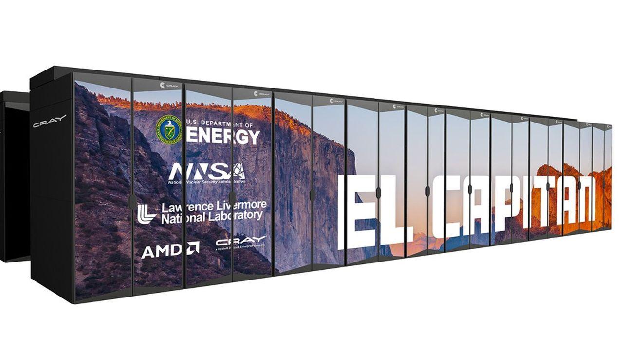 El Capitan, un nouveau supercalculateur ultrapuissant fabriqué par HPE pour les trois laboratoires fédéraux en charge de la sécurité nucléaire aux Etats-Unis.