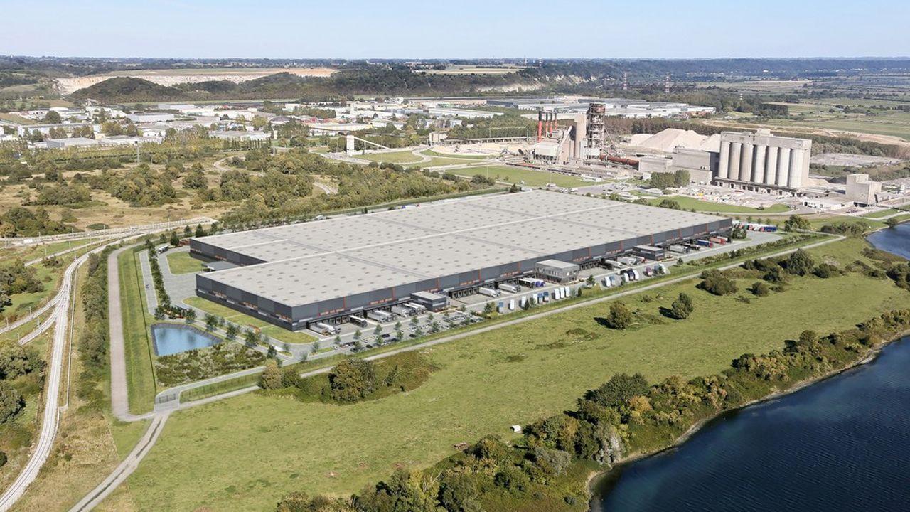 Le bâtiment logistique de 92.000 mètres carrés est le plus grand duHavre.
