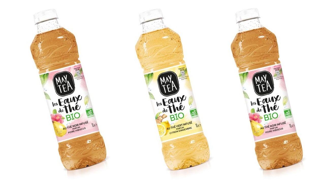 Orangina Schweppes lance «Les eaux de thé» sous la marque MayTea, créée en 2016. Elles ont 70% de sucre de moins que la moyenne des boissons sur le marché.