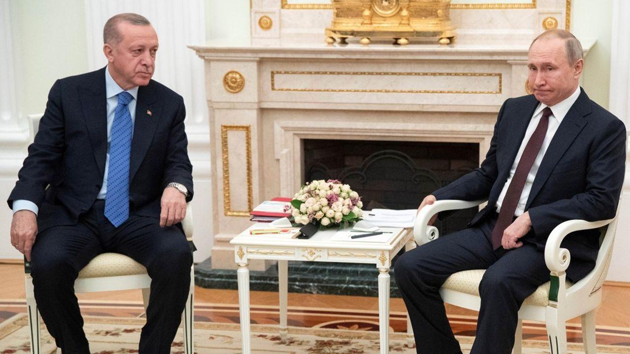 La diplomatie russe se montrait confiante avant la rencontre jeudi à Moscou entre le président russe Vladimir Poutine et son homologue turc, Recep Tayyip Erdogan.