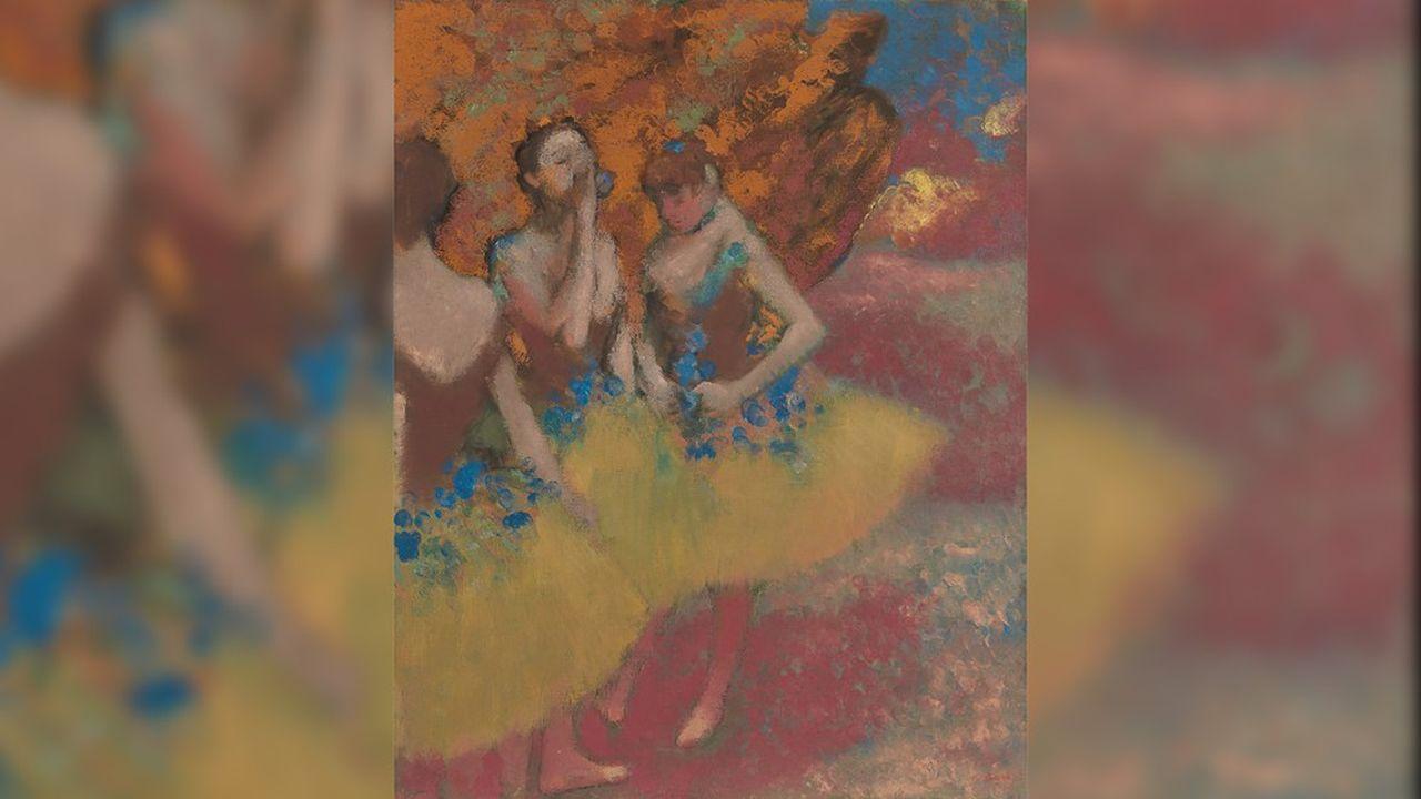 Une rare toile de Degas «Trois danseuses en tutu jaune», une explosion de couleurs de feu, du rouge au orange, datée d'environ 1891 est proposée pour un peu plus de 37millions de dollars.