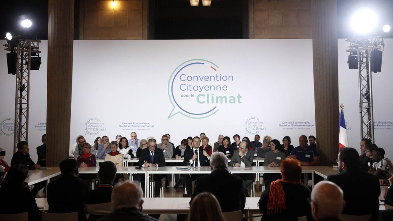 En janvier, le président de la République est venu échanger avec les citoyens de la Convention pour le climat.