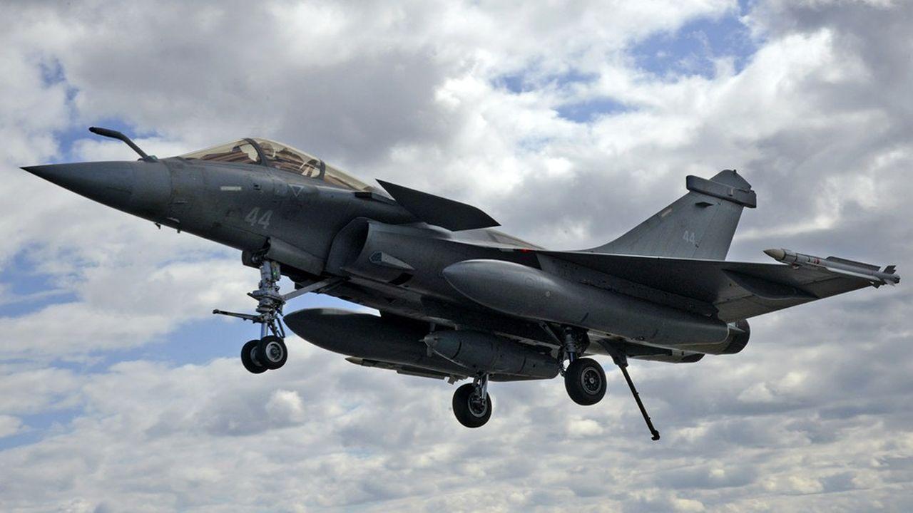 Les livraisons d'avions de combat Rafale à destination de l'Egypte, du Quatar et de l'Inde ont représenté près d'un quart des exportations d'armes totales de l'Hexagone.