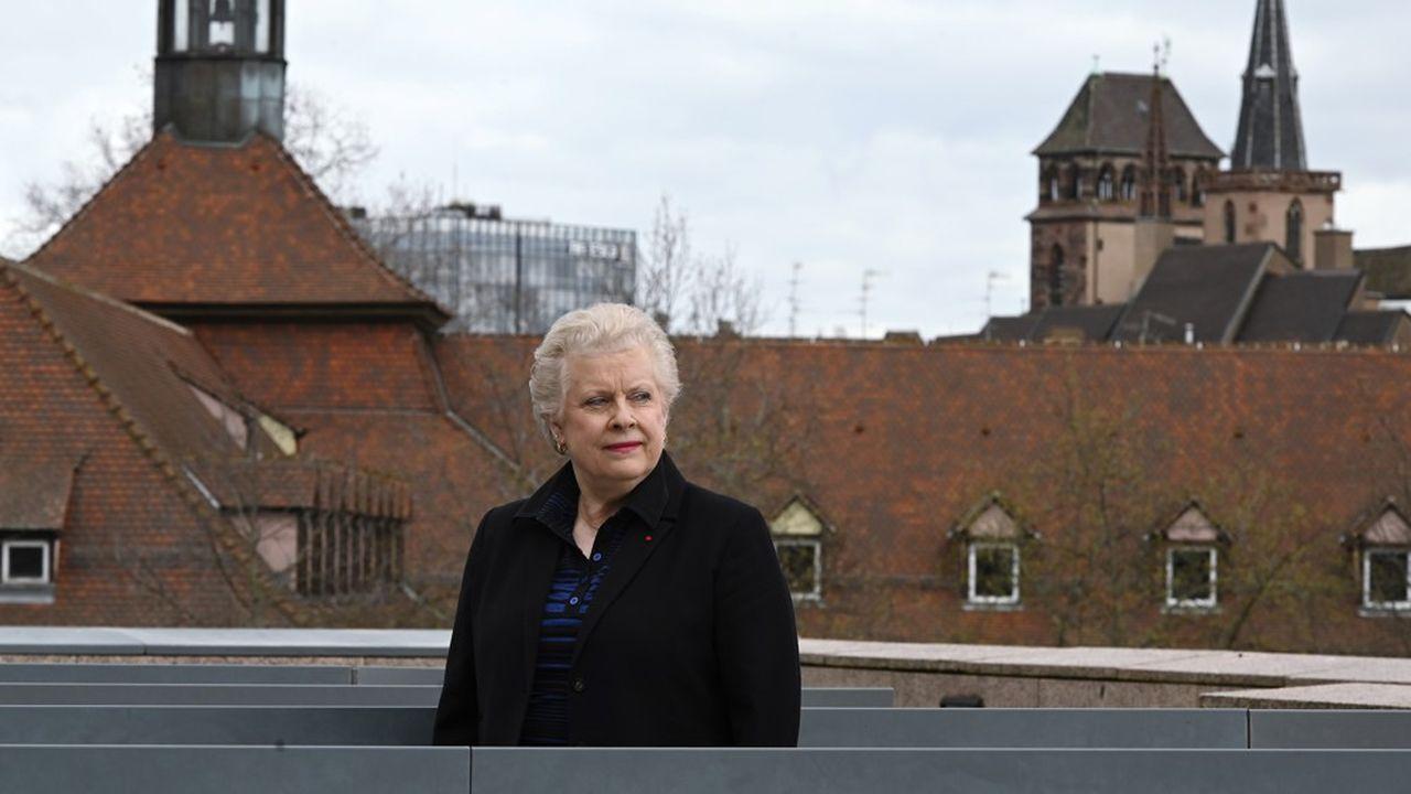 Catherine Trautmann, candidate du Parti socialiste pour la mairie de Strasbourg.