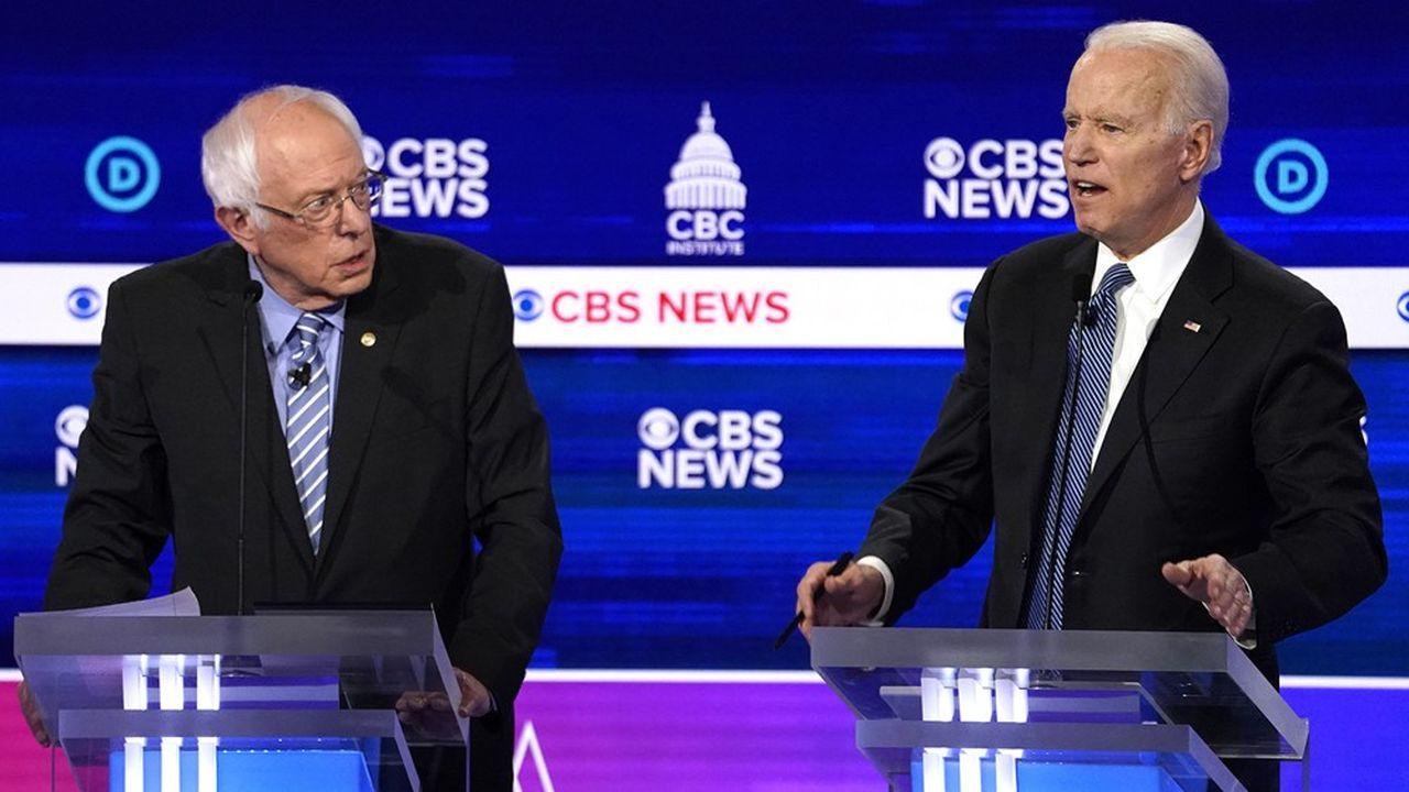 Le sénateur du Vermont Bernie Sanders a ranimé la flamme de l'aide gauche du parti démocrate tandis que l'ancien vice-président, Joe Biden, cherche à séduire le centre et au-delà.