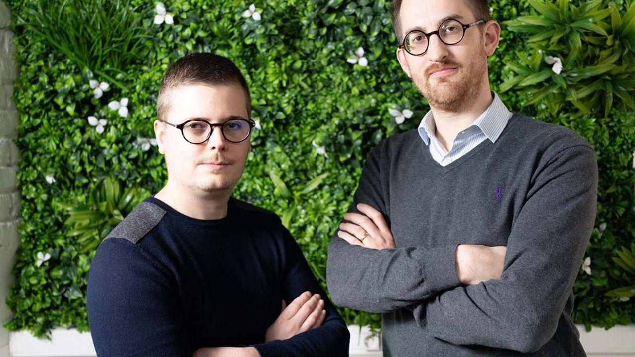 Maxime Piquette (à droite) et Charles de Potter (à gauche), les deux cofondateurs de la société iCreo.