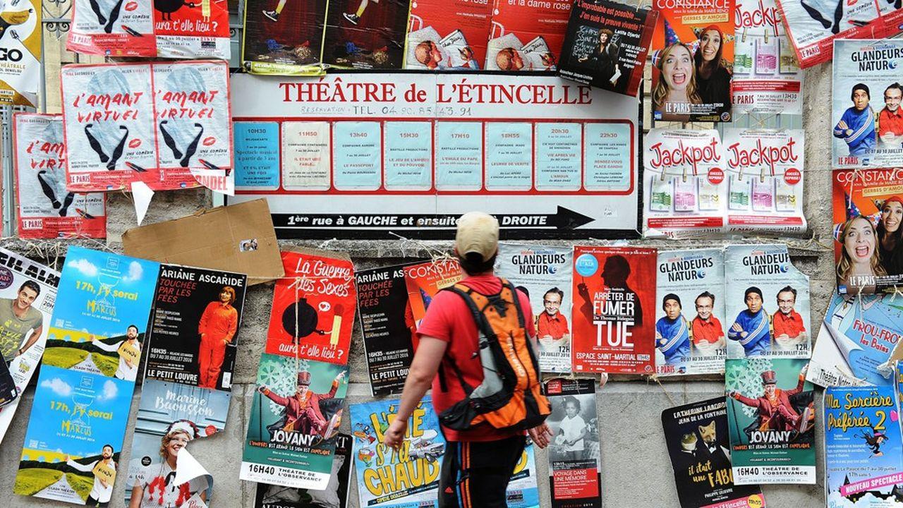 Des affiches pour le 70e Festival d'Avignon.