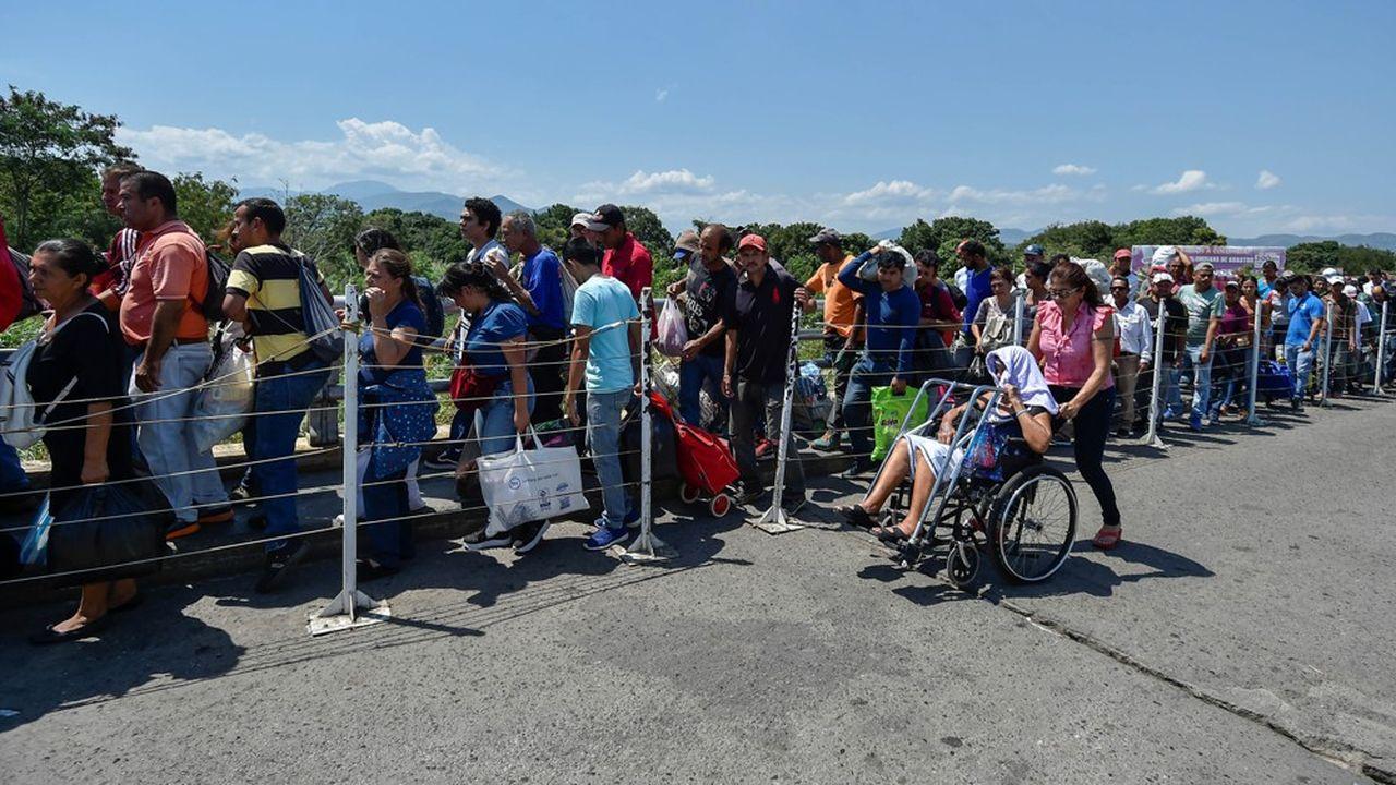 Les personnes fuyant le Venezuela ont surtout rejoint les pays limitrophes, comme ici la Colombie.