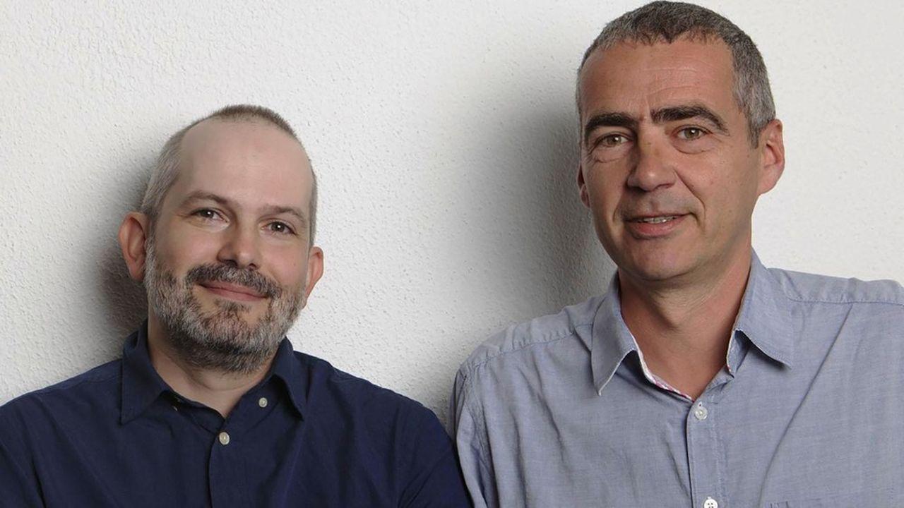 Michel Chevassu (à gauche) et Christophe Boutet (à droite), les deux cofondateurs de la jeune scop Débutant-e AccepT.
