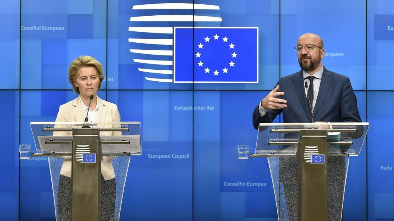 La présidente de la Commission européenne, Ursula Von der Leyen, et le président du Conseil, Charles Michel, ont participé à une visionconférence mardi avec tous les chefs d'Etat et de gouvernement européens pour trouver une réponse commune contre le coronavirus.