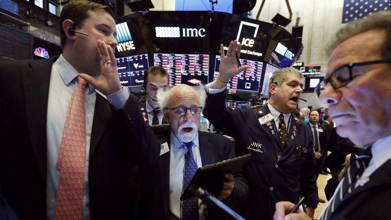 A la Bourse de New York, le 9mars.