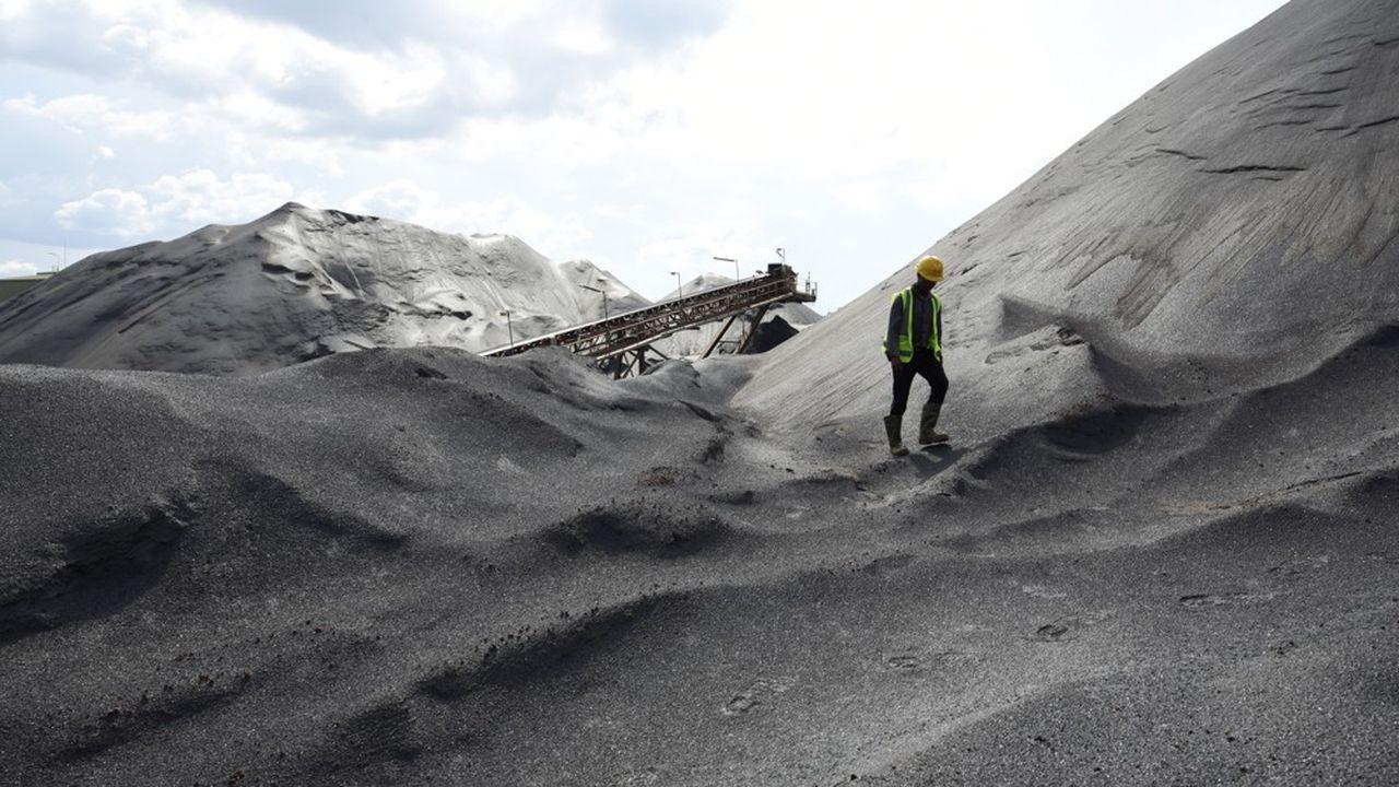 Une mine de fer en Sierra Leone.