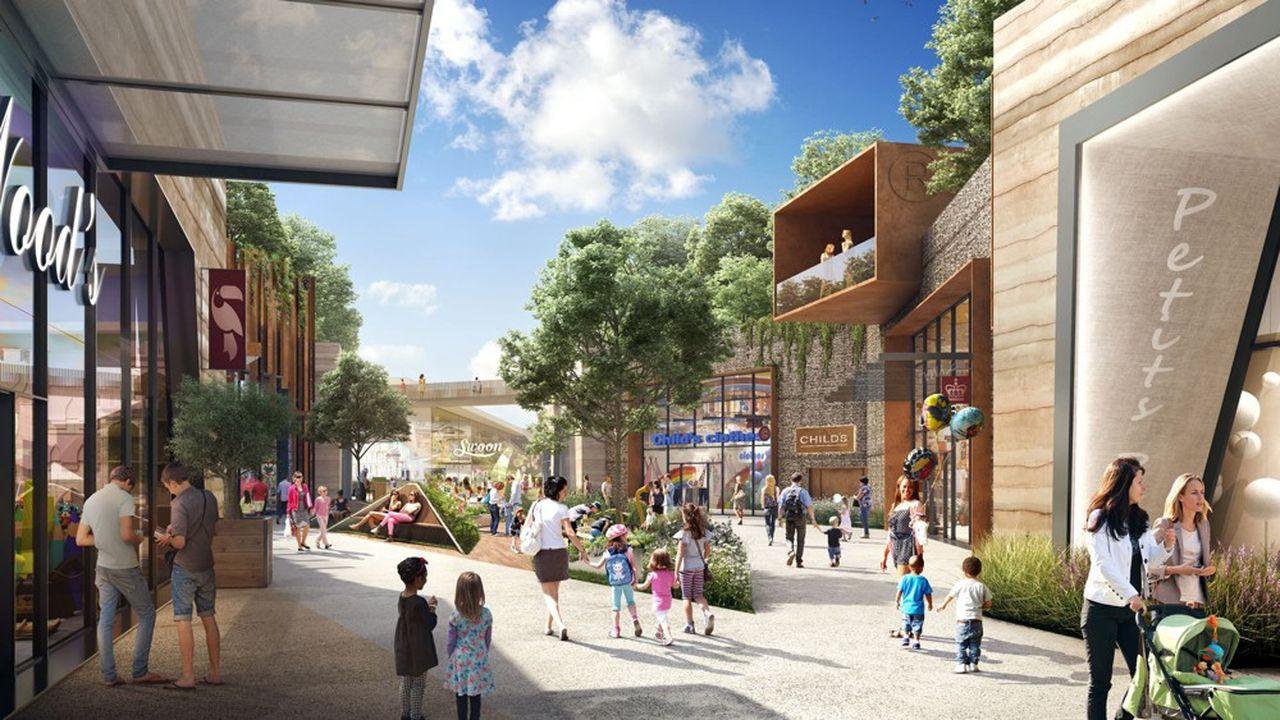 Le projet Shopping'Promenade consiste à regrouper, au sud de Montpellier, sur une terre agricole, dans une seule et même unité de 111.000m2.