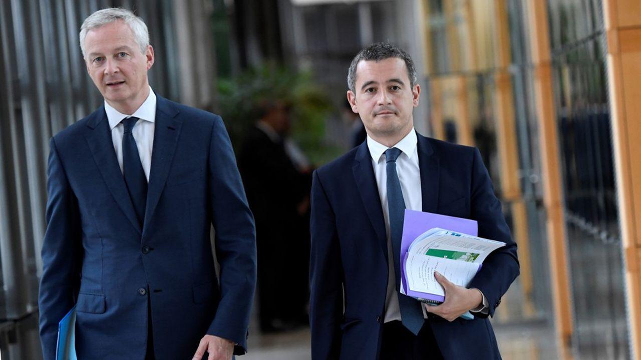 Les ministres de Bercy Bruno Le Maire et Gérald Darmanin (ici en septembre dernier) veulent présenter le plan économique de réponse à la crise du coronavirus dès cette semaine.