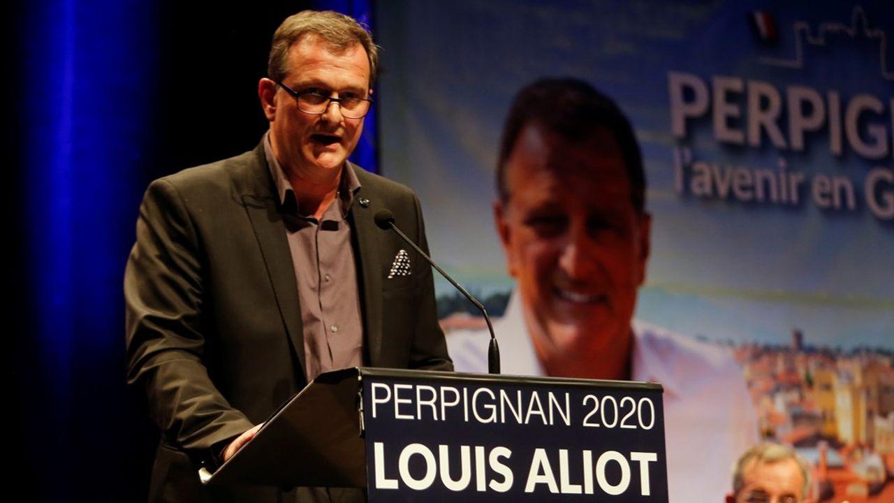 Crédité de 35,6% des suffrages dimanche soir à 20heures, Louis Alliot, cette année sans étiquette, était largement en tête.