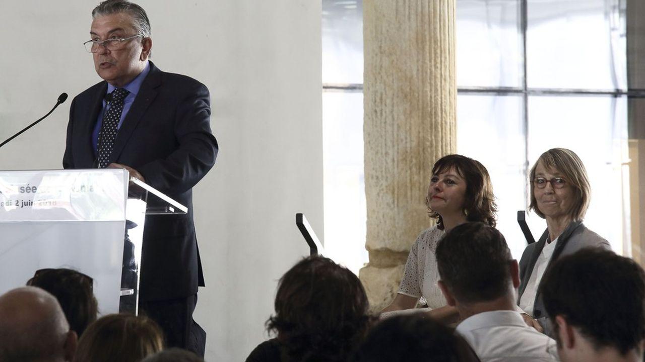 Jean-Paul Fournier lors de l'inauguration du musée de la Romanité de Nîmes en juin2018.